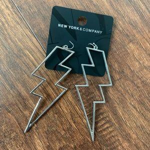 New York & Co Lightning Bolt earrings